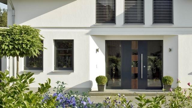aluminium holz haust ren kaufen. Black Bedroom Furniture Sets. Home Design Ideas