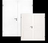 Weiße Doppelflügeltüren