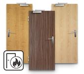 Echtholzfurnierte Brandschutztüren