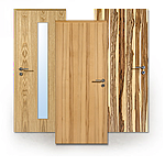 Echtholzfurnierte Türen in Längsoptik
