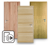Echtholzfurnierte Schallschutztüren