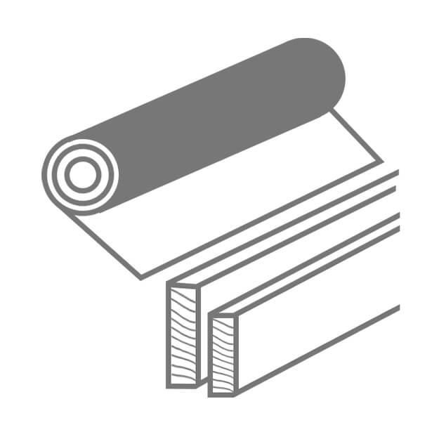 Icon Zubehör Bodenbeläge Unterlagsmatte und Sockelleiste