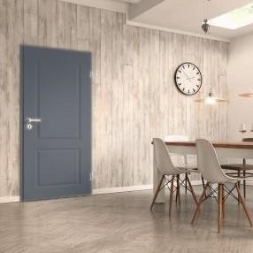 Provence Türe im Esszimmer in Achat lackiert