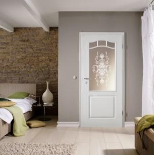 Provence Tür in Ferrum lackiert